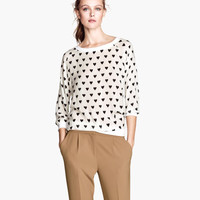 H&M - Woven Top - White - Ladies