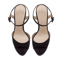 PLATFORM SANDAL WITH ANKLE STRAP - Heeled sandals - Shoes - Woman - ZARA United States