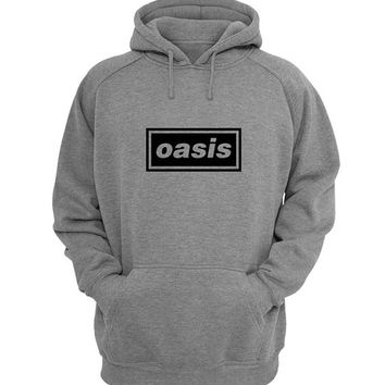 oasis Hoodie Sweatshirt Sweater Shirt Gray for Unisex size with variant colour