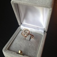2.7c cushion in rose gold milgrain bezel setting from ERD : Show Me the Bling!  (Rings,Earrings,Jewelry) • Diamond Jewelry Forum - Compare Diamond Prices, Discussions & Diamond Information