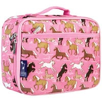 Horses in Pink Lunch Box - 33020