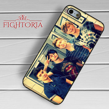 5sos 5 seconds of summer four guys image -end for iPhone 6S case, iPhone 5s case, iPhone 6 case, iPhone 4S, Samsung S6 Edge