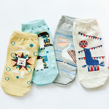 Animal Pattern and Boat Socks Funny Crazy Cool Novelty Cute Fun Funky Colorful