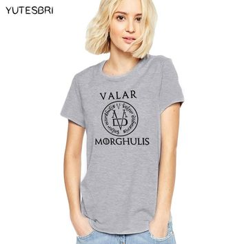 NEW A Song of Ice and Fire tops Valar Morghulis Game Of Thrones T Shirts women Fashion T Shirts high qualityPrinted T-shirts