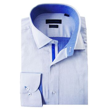 Andrew Fezza Slim-Fit Solid Spread-Collar Dress Shirt - Men, Size: