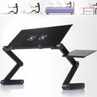 USA Laptop Table Adjustable Portable Bed Tray Book Stand Tabletop W/Tray l_l = 1946512388
