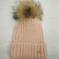 """Chanel"" Women Beanies Knit With velvet Hat Warm Woolen Hat"