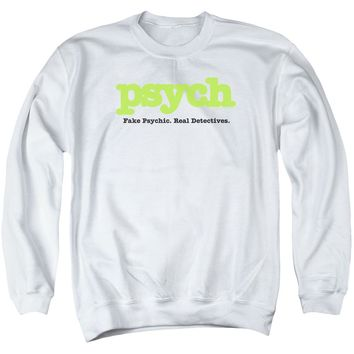 Psych - Title Adult Crewneck Sweatshirt Officially Licensed Apparel