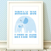 Nursery art boy, baby boys print, nursery print, elephant nursery art, boys bedroom, baby boy room, kids room, nursery decor boys