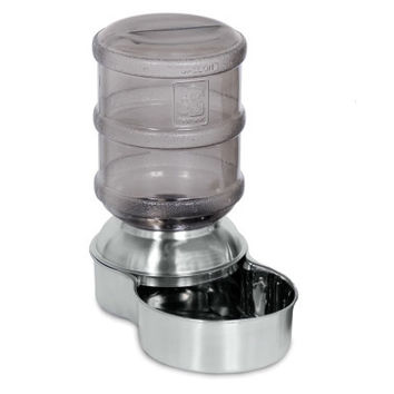 Petmate Stainless Steel Replenish Pet Waterer Sm 1 Gal
