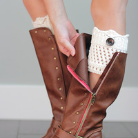 Girls 1 Button Boot Cuffs