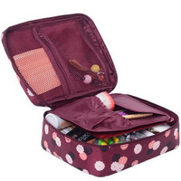 Brand Design Portable Toiletry Cosmetic Bag Waterproof Makeup Make Up Wash Organizer Zipper Storage Pouch Travel Kit Handbag