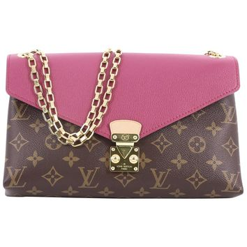 Louis Vuitton Pallas Chain Shoulder Bag Monogram Canvas and Calf Leather