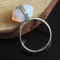 Adjustable Moonstone Silver Ring