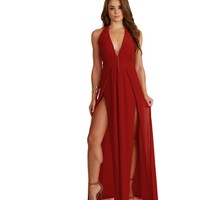 Red Extreme Maxi Dress