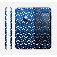 The Blue Gradient Layered Chevron Skin for the Apple iPhone 6