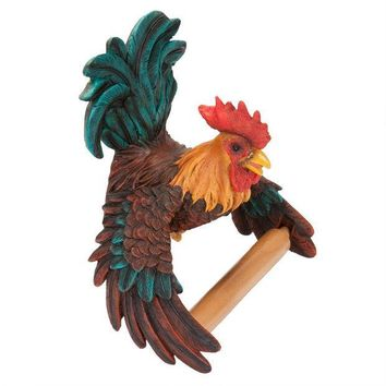 CREYCY8 Rooster Toilet Paper Holder