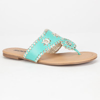 Soda Bonus Girls Sandals Aqua  In Sizes