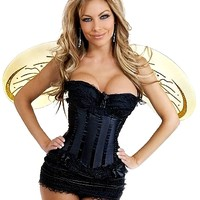 5 PC Sexy  Yellow Bumblebee Costume