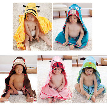 Kids' Hooded Towel with Animal Theme