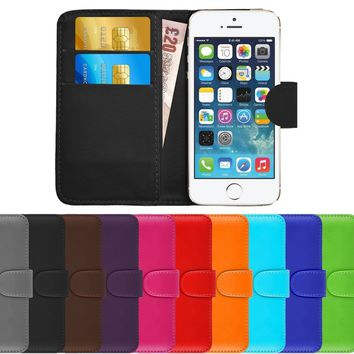 WALLET Leather Flip Case Cover Pouch for Phone Samsung Galaxy Fresh GT-S7390