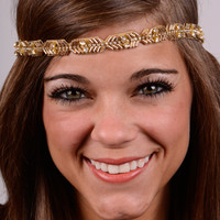 Arrow To The Heart Headband, Gold