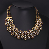 New Design Brand Vintage Ethnic Multilayer Flower Choker Necklaces & Pendants For Women Fashion Jewelry