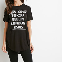 Cities Graphic High-Slit Tee