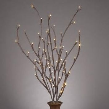 "Everlasting Glow LED 39"" Electric Brown-Wrapped Lighted Faux Branch, 72 Clear Rice Lights, Set of 3"