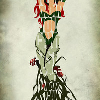 Poison Ivy Inspired Minimalist Typography Print & Poster