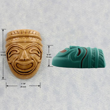 Tiki Mask Mold Mould Silicone Resin Mold Polymer Clay Fondant Chocolate Candy (336)