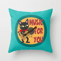 Music for you Throw Pillow by BATKEI