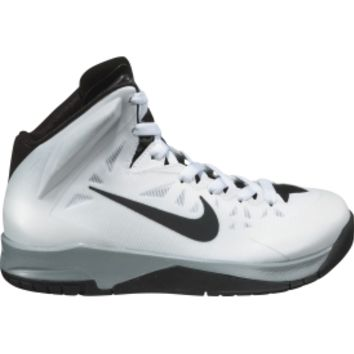 Nike Kids' Grade School Hyper Quickness Basketball Shoe - White/Black | DICK'S Sporting Goods
