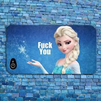Disney Frozen Elsa Cute Phone Case Funny Quote Cover iPhone 4 4s 5 5s 5c 6 iPod