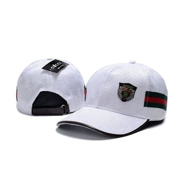 One-nice™ GUCCI Women Men Embroidery Adjustable Travel Hat Sport Cap