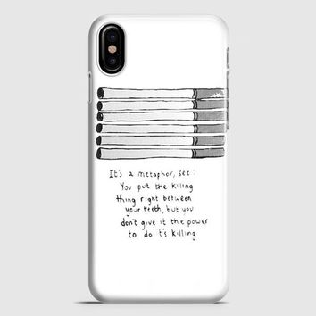 Fault In Our Star Cigarettes iPhone X Case