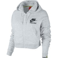 Nike Women's Cropped Track and Field Full Zip Hoodie