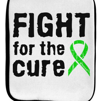 Fight for the Cure - Lime Green Ribbon Lyme Disease 9 x 11.5 Tablet  Sleeve by TooLoud