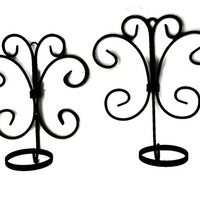 Iron Metal Scroll Art Wall Sconce Flower Pot Holders Pair
