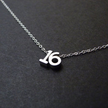Sweet Sixteen Gift, Sweet Sixteen Jewelry, Sweet Sixteen Necklace, Sweet Sixteen Party, Sterling Silver