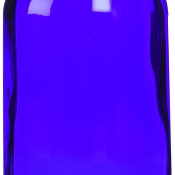 Cobalt Blue Boston Round Bottle with Cap - 4 oz, 6 ct