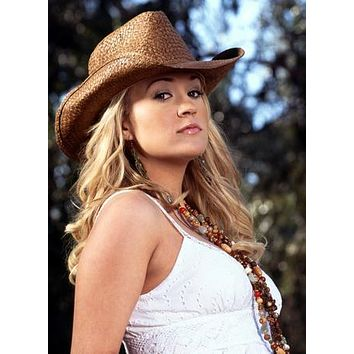 Carrie Underwood Sassy Cowboy Hat poster Metal Sign Wall Art 8in x 12in