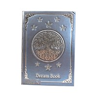 Wiccan Tree of Life Dream Book Embossed Journal Notebook Blue