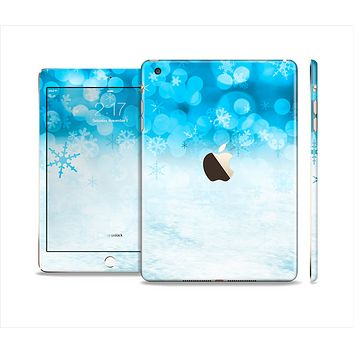 The Winter Blue Abstract Unfocused Full Body Skin Set for the Apple iPad Mini 3