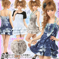Rakuten: [for a heart trendy bleach processing stimulation ☆ back ビスチェデニムティアードワンピース TOA-0568 ] It has been had PC] ◆- Shopping Japanese products from Japan
