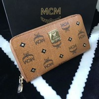 MCM Women Zipper Leather Purse Wallet Satchel bag G-A-GHSY-1