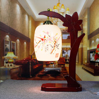 Novelty Led Decorative Wooden Ceramic Desk lamp Bedroom Night Light Table Lamp