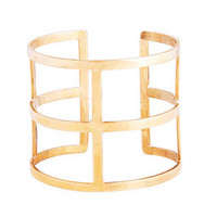 CAMPBELL Gold Plated Geo Cuff buy online at www.campbellcollections.com