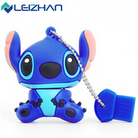 Free Shipping Cartoon Lilo & Stitch USB Flash Drives 4GB 8GB 16GB 32G 64G Pen Drive memory stick pendrive usb stick