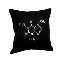 Caffeine Molecular Structure Pillow